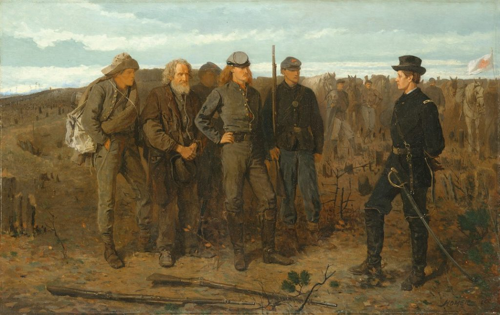 """Image of Winslow Homer, """"Prisoners from the Front"""" (1866)"""