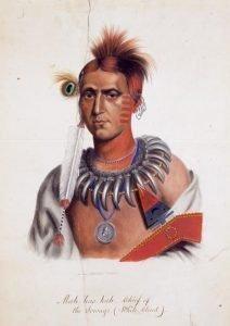 Mas-has-kah, Chief of the Ioways-(White Cloud)