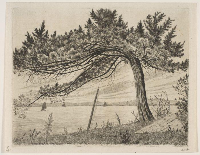 Henry Farrer, Pelham Bay [etching, ca. 1875].