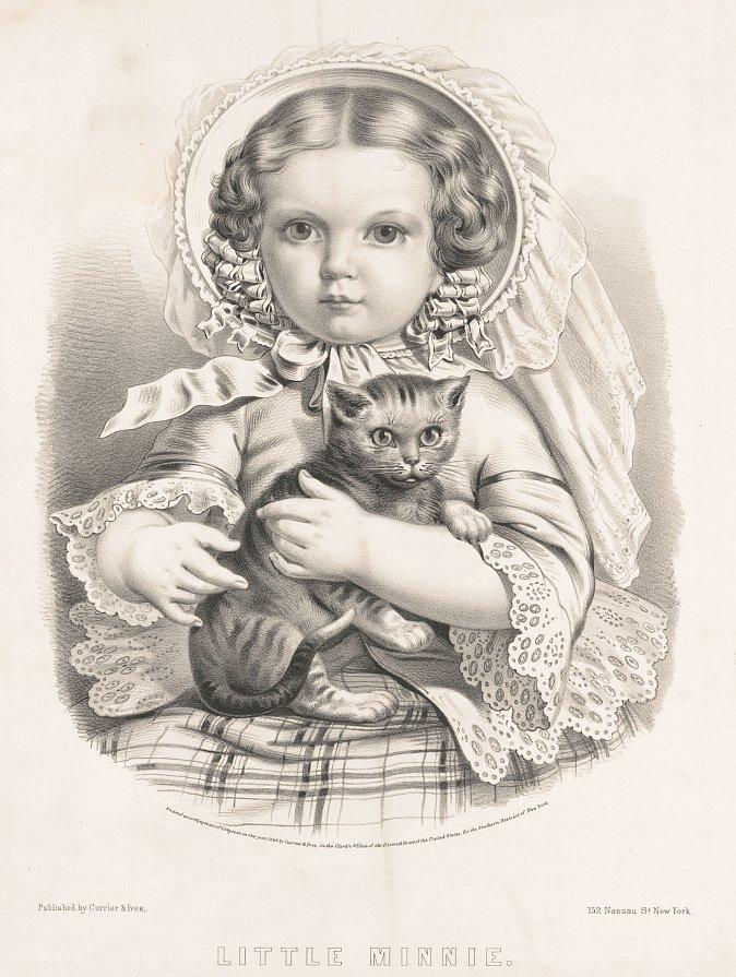 Currier & Ives, Little Minnie [Lithograph, circa 1862].