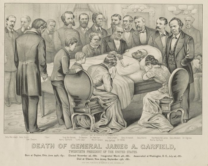 Currier & Ives, Death of General James A. Garfield, Twentieth President of the United States [Lithograph, 1881].
