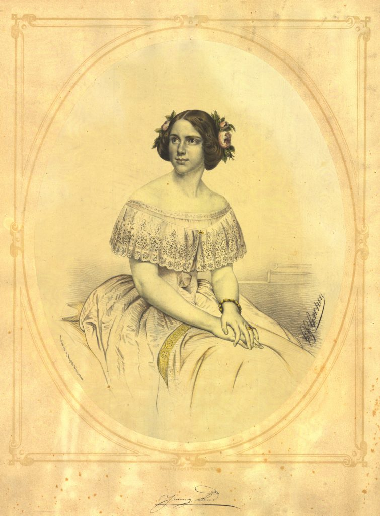 C. G. Crehen (lithographer), Nagel & Weingartner (printers). Jenny Lind [Lithograph, copyrighted August 29, 1850].