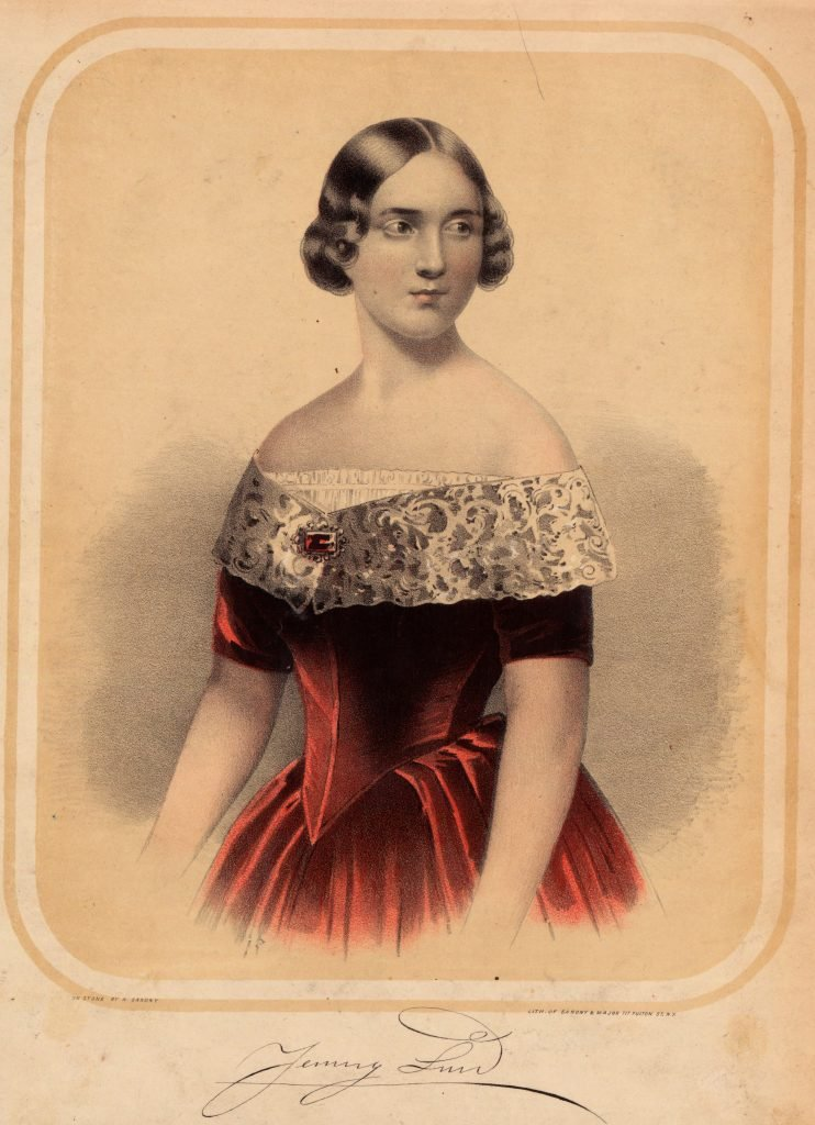 Sarony & Major, Jenny Lind [Lithograph, ca. 1846-50].