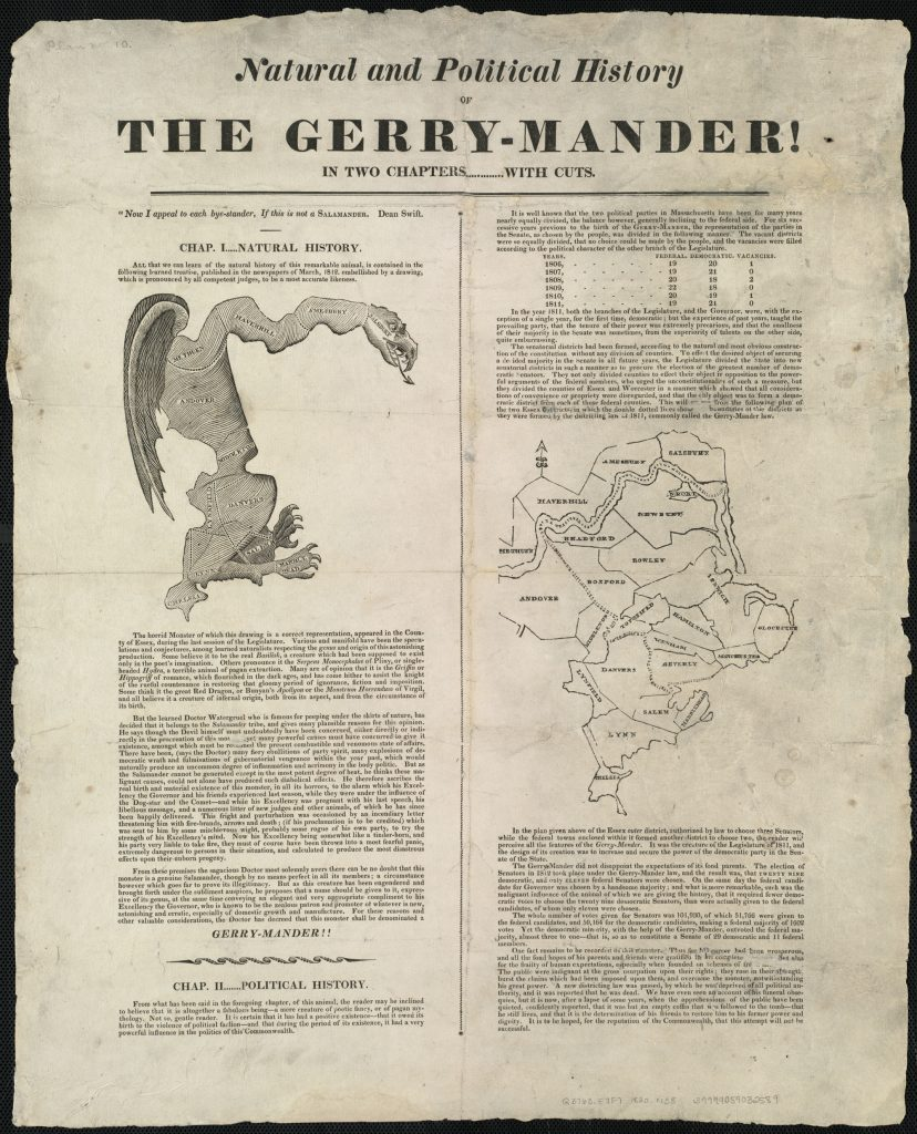 Natural and Political History OF THE GERRY-MANDER! IN TWO CHAPTERS …………. WITH CUTS