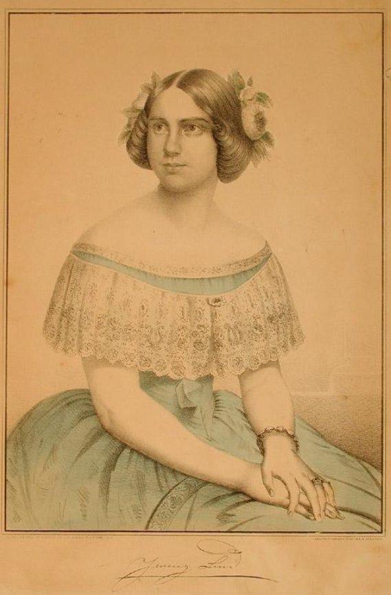 Kellogg & Comstock. Jenny Lind [Lithograph, 1851].