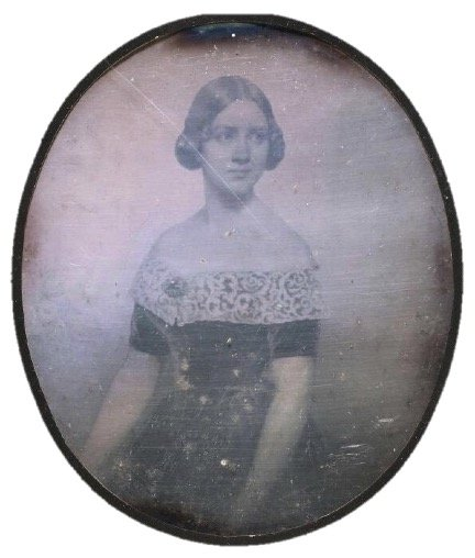 Daguerreotype copy presumably of portrait of Jenny Lind by Conrad L'Allemand