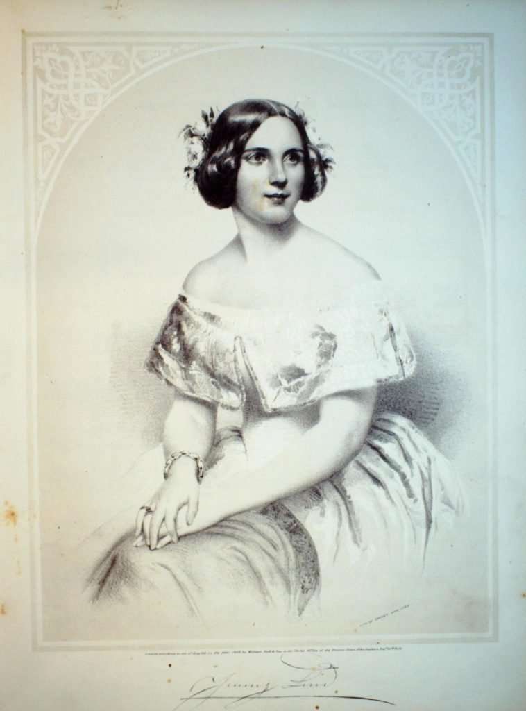 Sarony (lithographer), William Hall & Son (publisher), Jenny Lind [Lithograph sheet music cover, 1850].