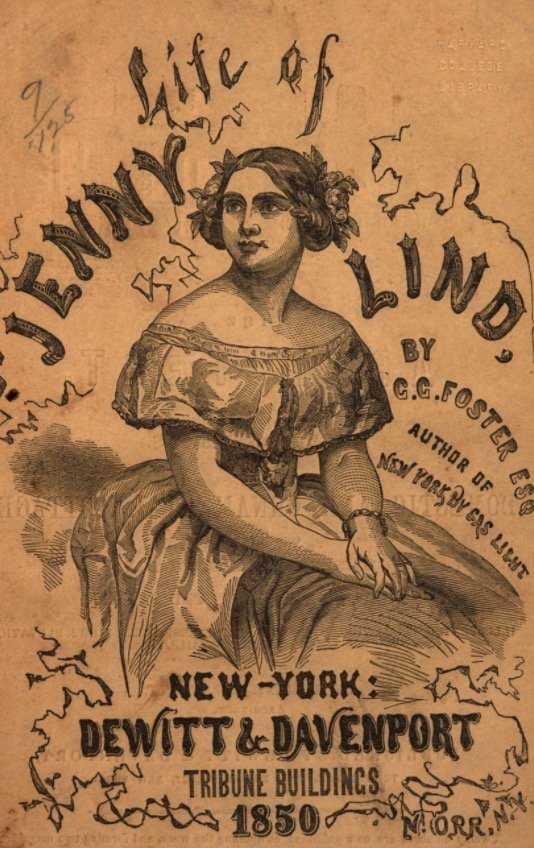 N. Orr (engraver), Life of Jenny Lind [Wood engraved cover of Memoir of Jenny Lind, 1850].