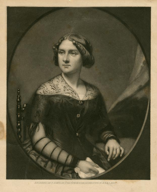 T.B. Welch (engraver) after a daguerreotype by M.A. & S. Root, Portrait of Jenny Lind [Engraving, ca. 1850].