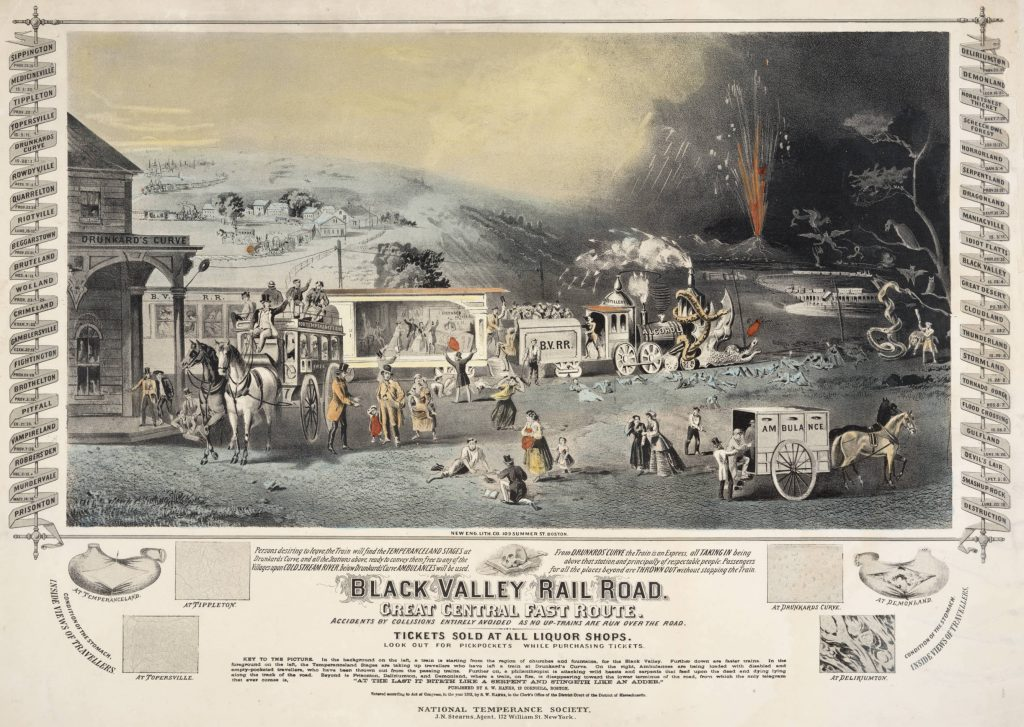 S. W. Hanks, Black Valley Railroad [Lithograph, 1863].