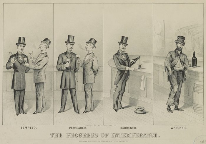 Currier & Ives, The Progress of Intemperance, 1881
