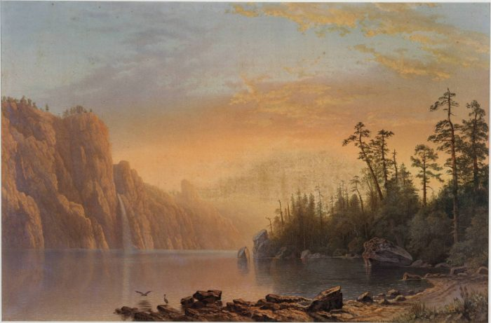 L. Prang & Co. after Albert Bierstadt. Sunset