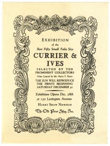 Best Fifty Small Folio Currier & Ives exhibition card